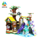 funny games safe material tree house building diy play nano blocks toy with low price