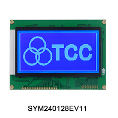 TCC 240x128(AV51) monochrome graphic T6963 controller STN Blue lcd display module