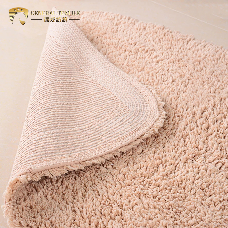 JR051 Hot Selling Household Luxury 50x80cm 700g Washable Blue Color Bath Rug