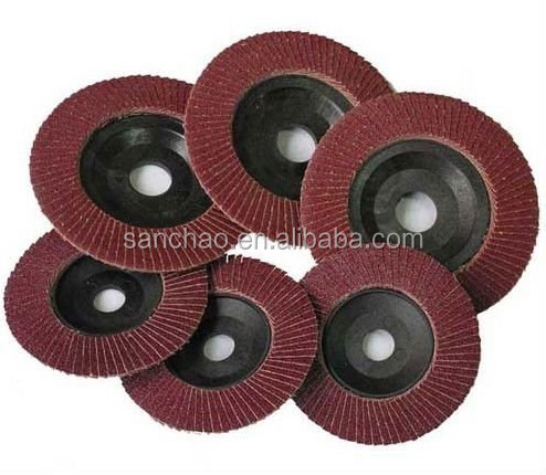 Ice point price of Plastic cap of alumium oxide flap disc in large stock for sale