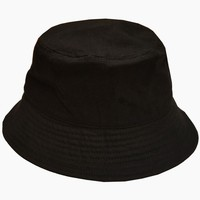 China manufactory fishing hunting hat promotional blank cheap black cotton bucket hat