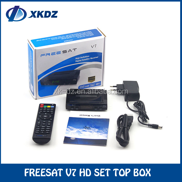 Freesat V7 HD DVB-S2 support BISS Key,Patch,Cccam,Powervu and Youtube mini satellite tv receiver