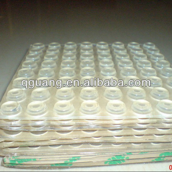 Cylindrical Self adhesive silicone rubber feet
