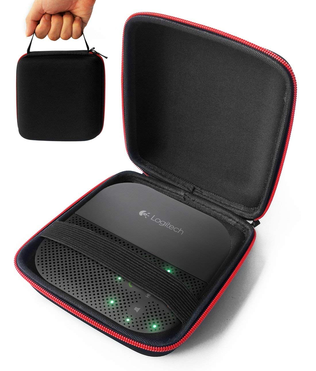 FitSand(TM) for Logitech P710e Mobile Conferencing Speakerphone Hard EVA Shockproof Carrying Case Storage Travel Case Bag Protective Pouch Box
