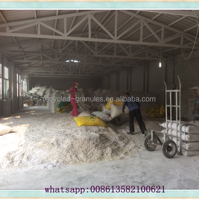 Factory supply PVC scrap regrind of recycled white PVC pipes for sale