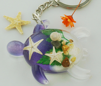Resin turtles key chain/ seaside tourism souvenirs /novelty crafts