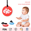 2016 hot sale of Donuts shape silicone baby pendant teething necklace