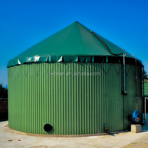 Glass fused to steel biogas tank for food waste treatment