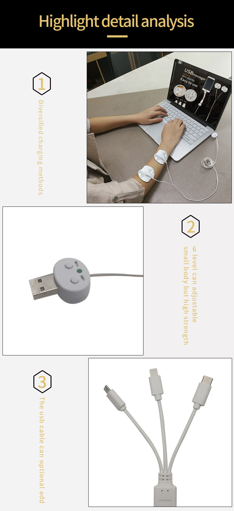 卸売ホーム電気パルス tens 電子電子パルスマッサージ
