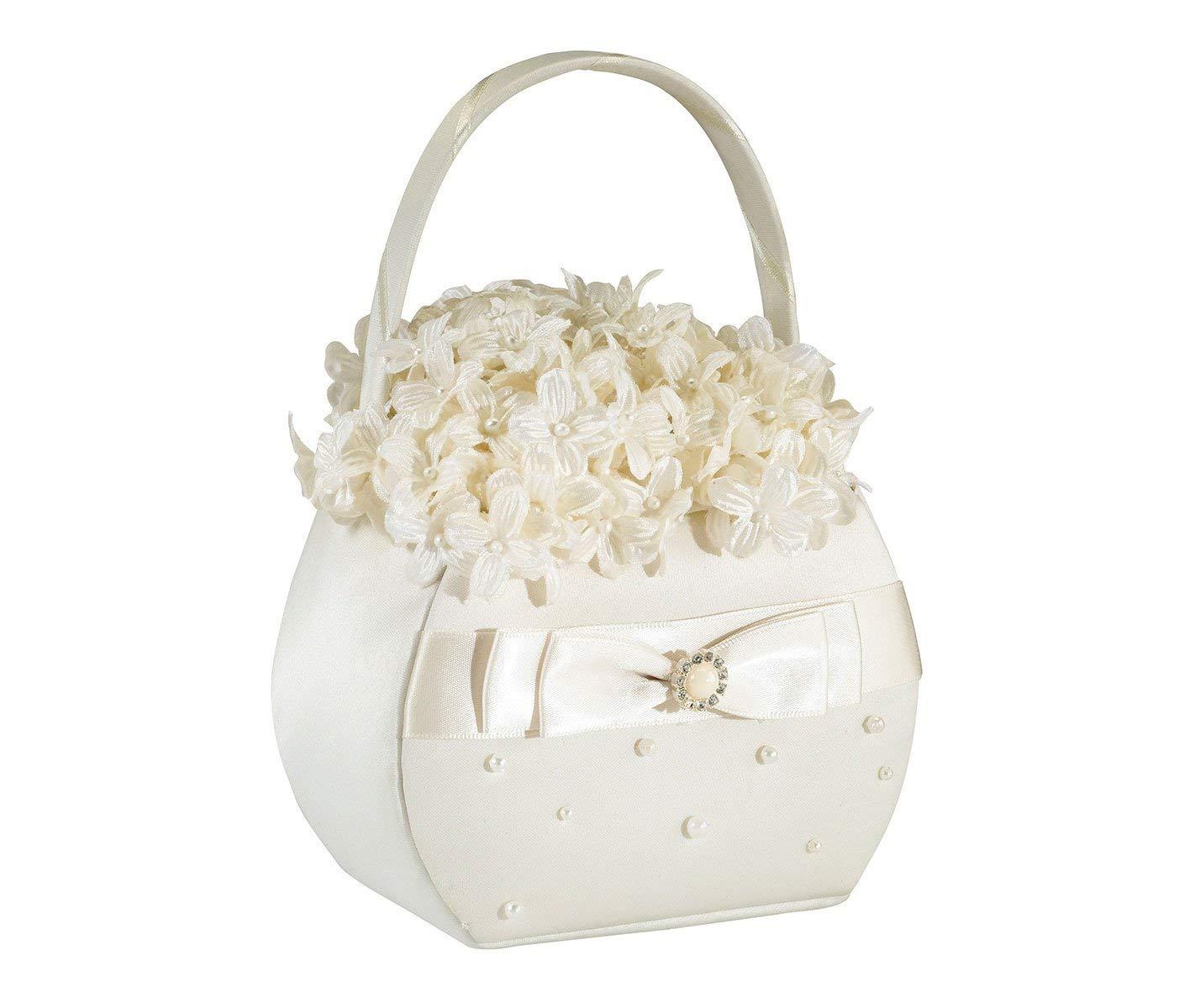 Cheap ivory flower basket find ivory flower basket deals on line at get quotations lillian rose elegant scattered pearl flower girl basket ivory izmirmasajfo