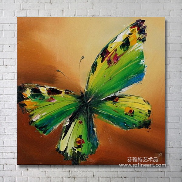 Handmade butterfly oil pianting,modern wall art