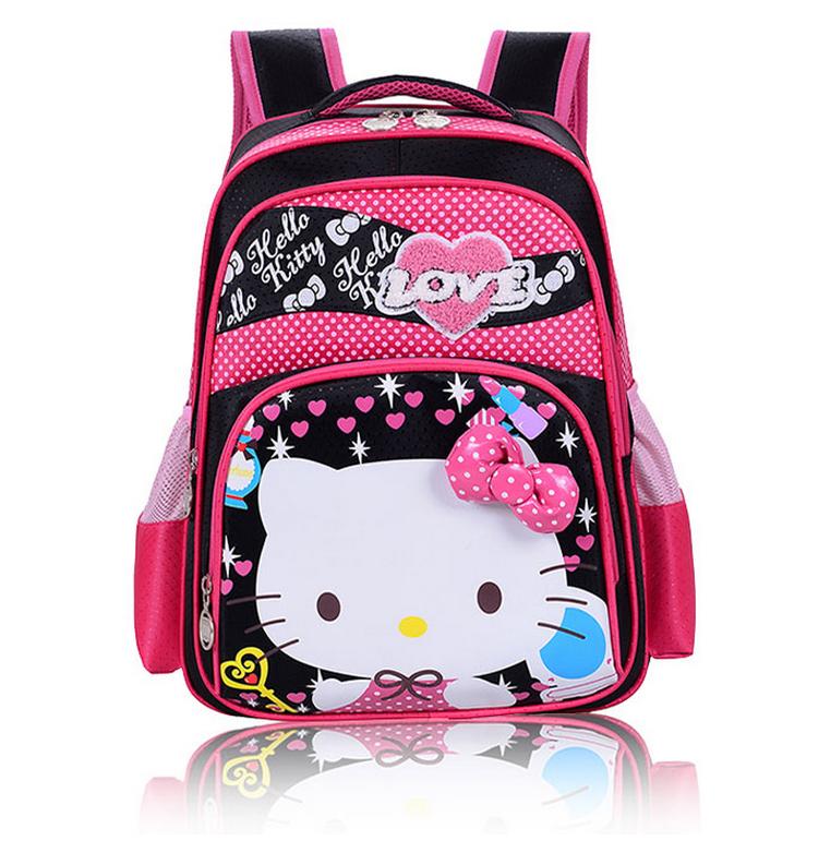 fb2bc2098e29d لطيف الأطفال الكرتون حقيبة ، العصرية الاطفال مرحبا كيتي حقيبة مدرسية مع  لونين