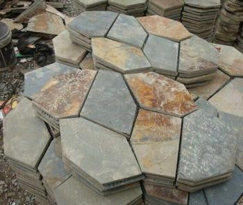2016 Hot Sell Natural Flagstone Mat Mesh Stone Tile With Great