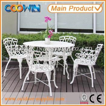 White Casting Aluminum Outdoor Patio Furniture