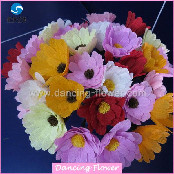 Belo Papel Crepom 100 Handmade Haste Arranjo De Flores Da Margarida Buy Caule Da Flor Da Margaridaarranjo De Papel Haste Da Flor Da