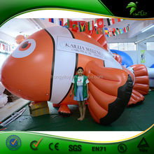 Customize Inflatable Flying Fish Towable / Inflatable Sea Animal / Inflating Fish Cartoon Charactor