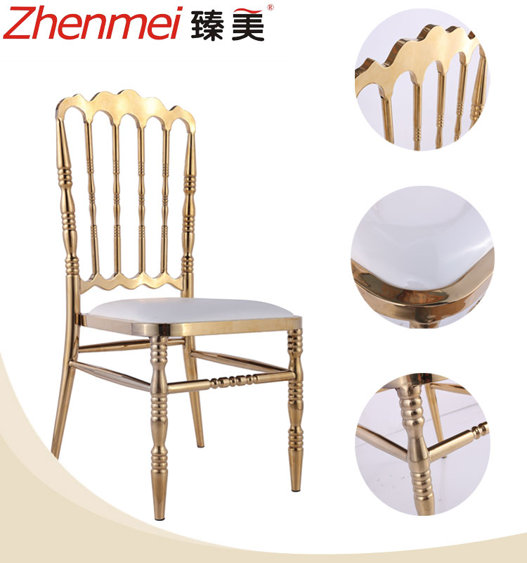 Hot sale can stack wedding napoleon golden chiavari chair