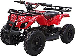 350 Watt Sonora Electric Ride on Mini Quad Utility ATV for Kids, Red