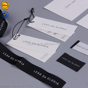 Sinicline custom wedding dress clothing tags clothing labels and hang tags