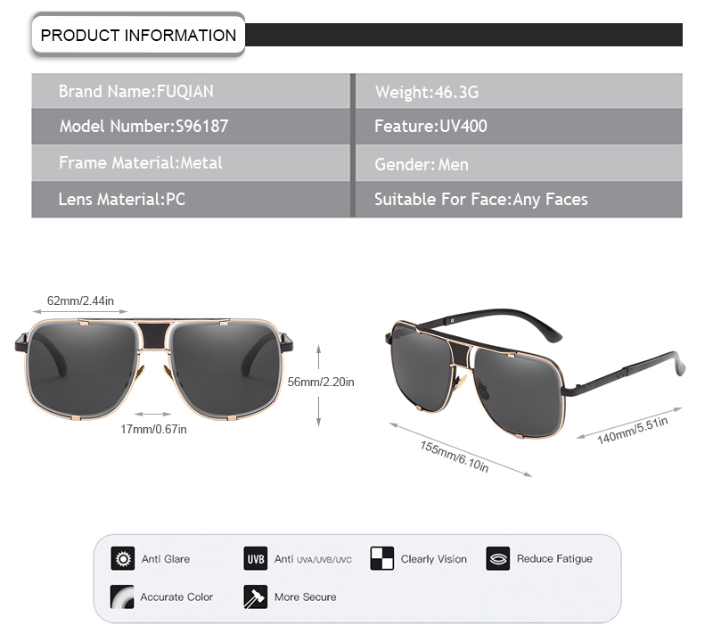 Fuqian what is polarized glasses Supply for men-7