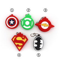 Pendrives Super Heros Shield USB Flash Drive 64GB 32GB 16GB 8GB 4GB Flash Memory stick Captain America Pen Drive Batman gifts