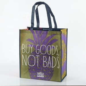 biodegradable full color printing portable reutilizables sublimation storage moving bag eco non woven