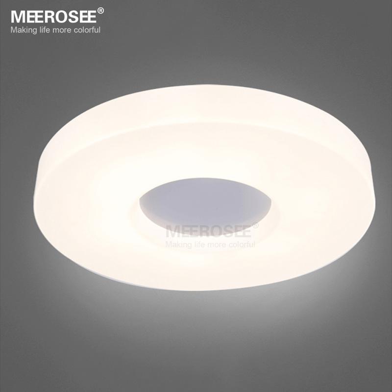 White Acrylic Led Ceiling Light Fixture Flush Mount Lamp: Modern Ring LED Ceiling Light Fixture White Acrylic Flush
