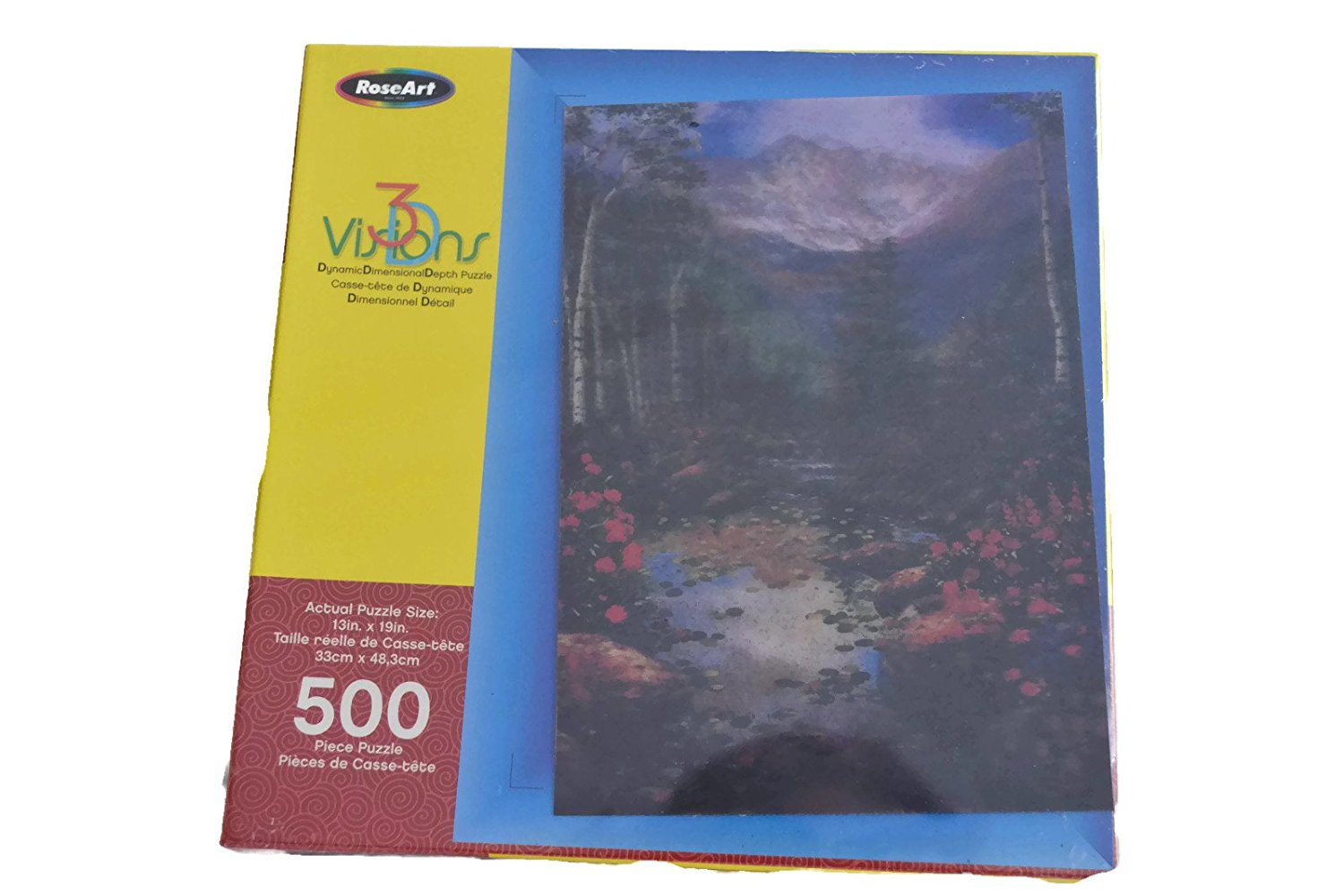 Mountain Pool, 3-D Visions (Dynamic Dimensional Depth) | 500 Piece Puzzle