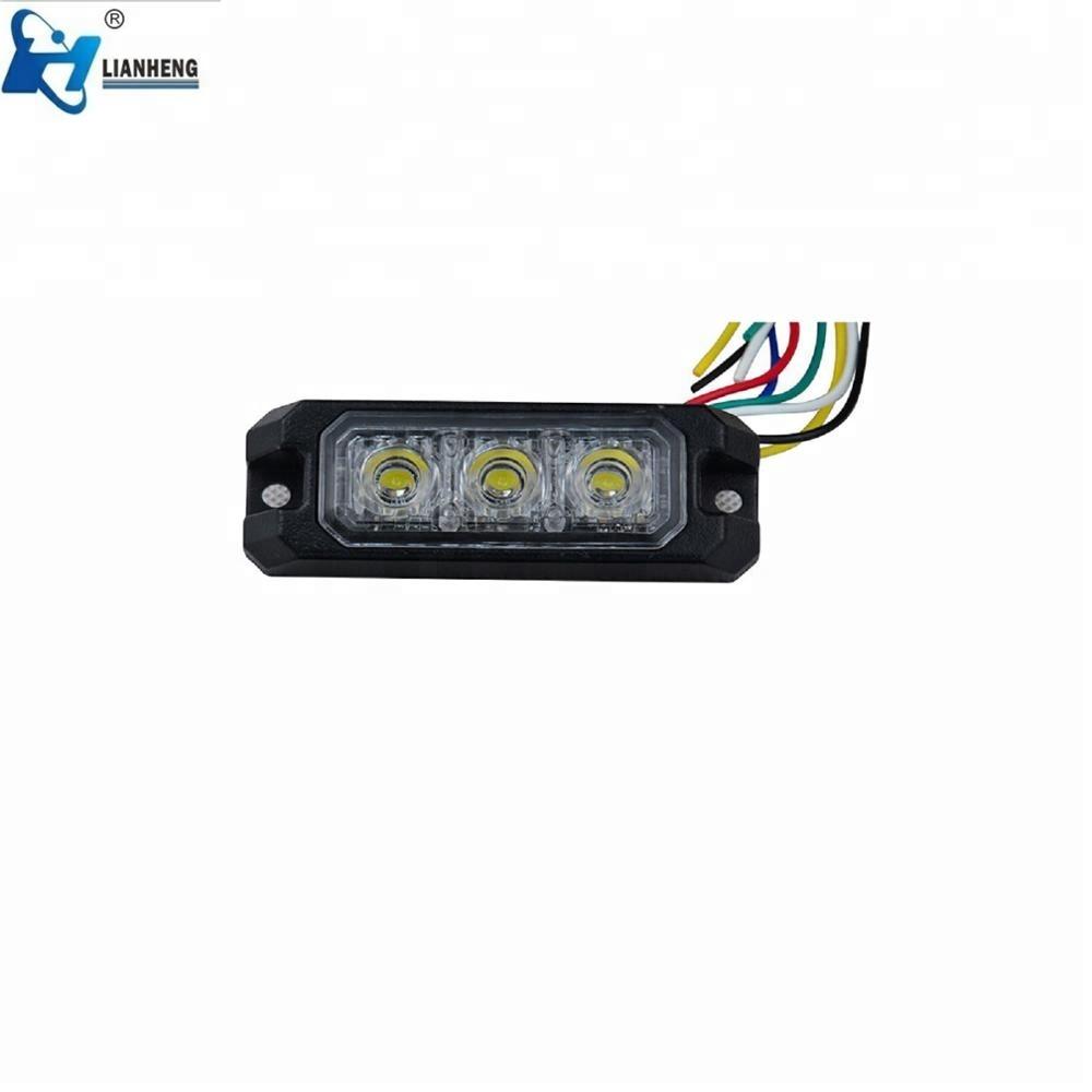 High quality 3w Red blue purple Led dash strobe light, 12 volt LED dash light LTDG-J3