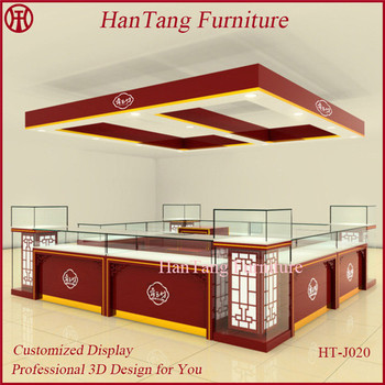 Best Quality Wooden Jewelry Store Furniture Jewelry Shop Decoration Design Gold Rings Display