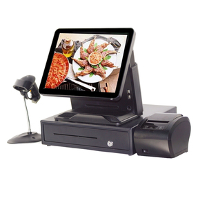 Compos Touch POS System 15 inch TFT LCD Restaurant Cashier Register With Printer And Cash Drawer