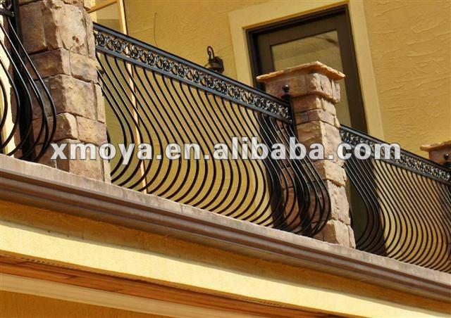 Modernos dise os de los balcones de hierro al aire libre - Barandales modernos para escaleras ...