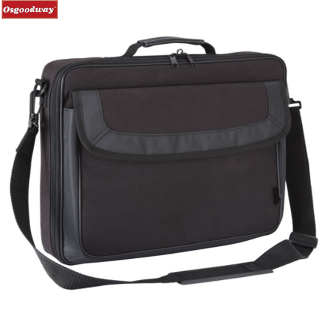 Osgoodway Hot Sale Classic Waterproof Business Men Laptop Bag Computer Briefcase Shoulder Bags for Trip
