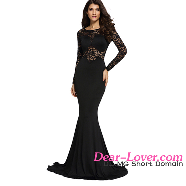 Shiying Customized 2016 Black Long Lace Sleeve evening dresses made in turkey