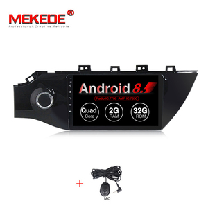 Mekede 9inch Android 8.1 2+32G Car dvd player for Kia Rio K2 2017 with Car gps navigation multimedia WIFI BT have russian menu