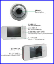 Shenzhen factory 3.5 inch 4G Wireless Electronic door camera Peephole Viewer 3x digital zoom Tinkle Bell