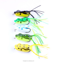 Free Shipping snakehead frog baits 5.5cm 12g frog Hit water plastic soft frog fishing lure