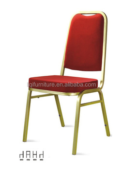 hotsale cheap red fabric padded hotel used steel banquet chairs LQ-A911