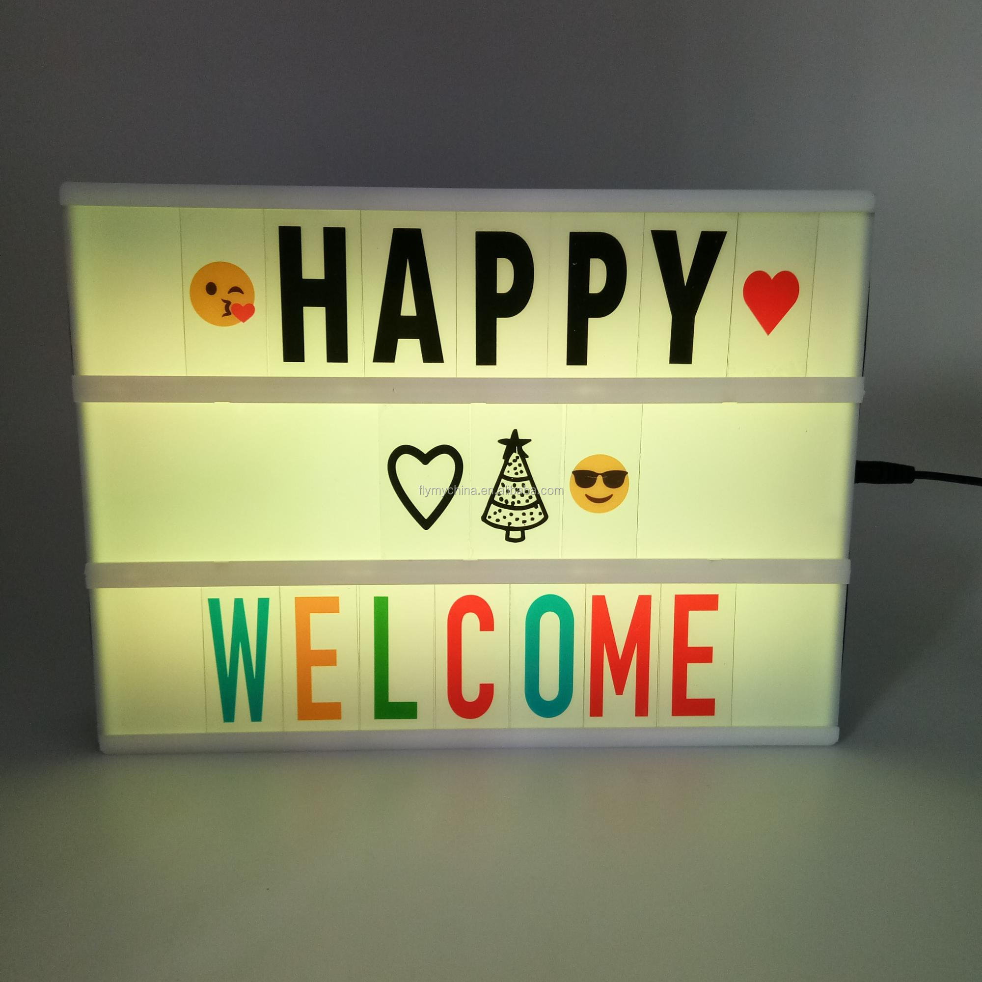 Led Lighting Sign Indoor Cinema Custom Marquee Remote Control Letter Light Box With Colour Changing