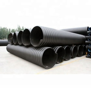 hdpe steel belt reinforced corrugated pipe for drainage