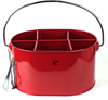 Removable Six-pack Divider Bottle Opener Red Metal Ice Bucket