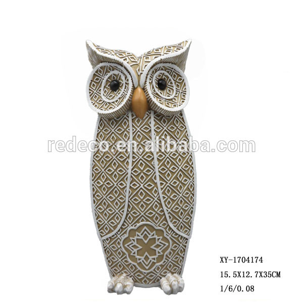 2017 Personalized resin owl figurine animal figurine for table top decor