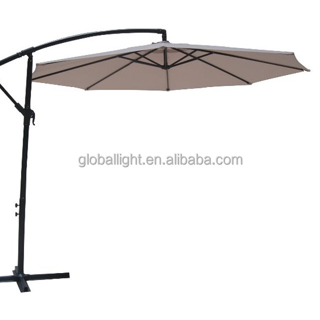 Factory Directly Supply 10 Feet Offset Umbrella Patio Umbrella For  Ultraviolet Proof And Rain