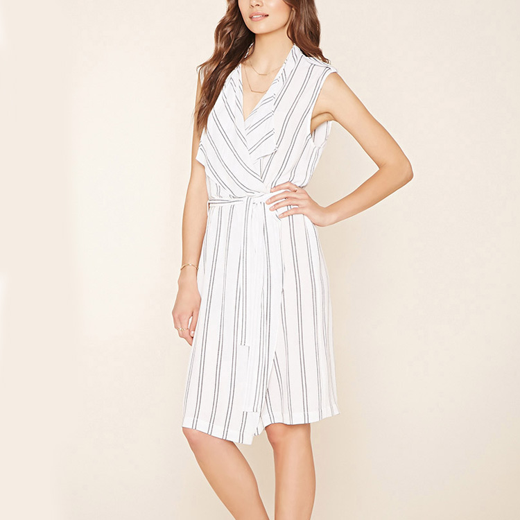 Dongguan apparel manufacturer trade assurance ladies striped casual dress latest fashion dresses
