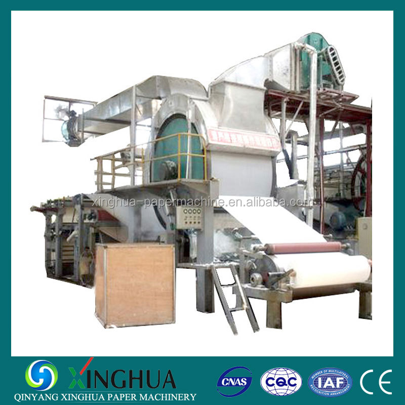 Easy operation and Low Cost 0.8-1TPD 787mm Toilet Paper Machine for Small Paper Plant