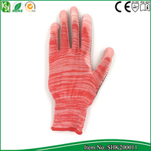 Easy Grip Gardeners Working Glove PVC dots on palm nylon gloves,safety glove