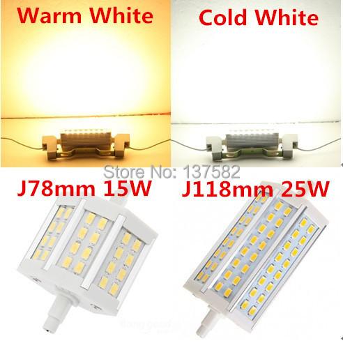 buy dimmable r7s led 15w 25w smd5730 78mm j78 118mm j118 led bulb light lamp. Black Bedroom Furniture Sets. Home Design Ideas