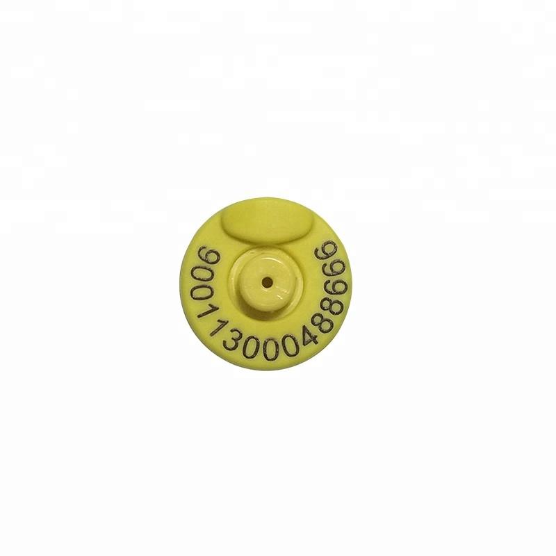 Étiquette auriculaire rfid, 1342khz, 1 pièce, pour bétail, chèvre, lapin, mouton, animaux de ferme