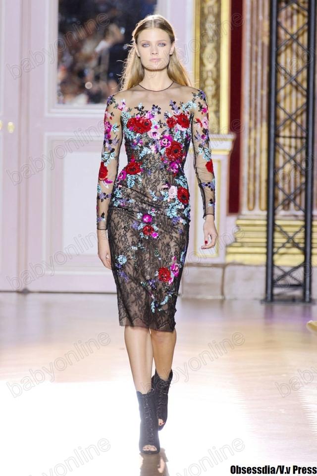 1cca44f9c87 ... Зухаир Мурад кружево вышивка бисером блесток цветочные красный ковер  Кристен Стюарт знаменитости платье вечерние платья просто ...