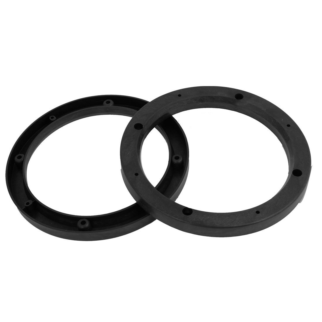 "uxcell 2 Pcs Car Black 6.9""Dia Round Speaker Spacers Extender Ring 14mm Depth"